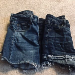 2 pairs of American Eagle High Rise Shorts